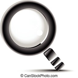 recherche, bouton, verre, loupe, symbole, magnifier