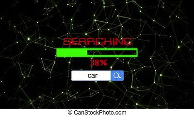 recherche, concept, voiture, ligne