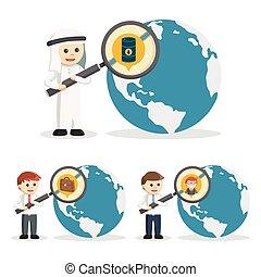 recherche, ensemble, professionnels, 2, icône