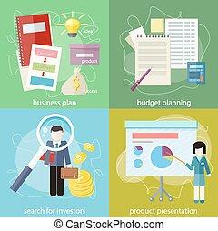 recherche, investisseurs, business, budget, planification, plan