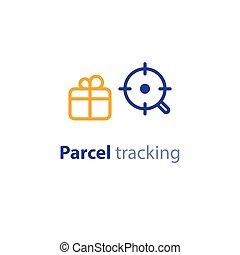 recherche, paquet, parameters, options, expédition, services, expédition