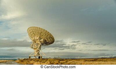 recherche, radio, ciel, télescope