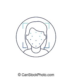 reconnaissance, icône, figure, identification