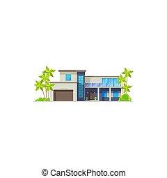 recours, bungalow, maison, hutte, petite maison, ou, villa