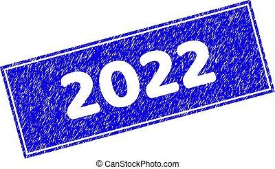 rectangle, cachet, timbre, 2022, grunge, gratté