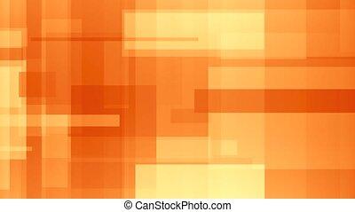 rectangles., résumé, loopable, mouvement, en mouvement, fond, orange