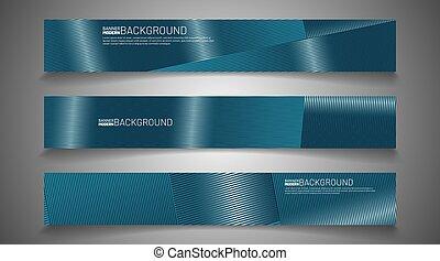 rectangulaire, vecteur, raies, bleu, conception, bannière, arrière-plan.