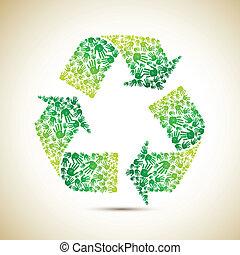 recycler, main humaine