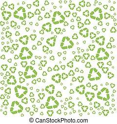 recycler, symbole, fond