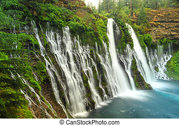 redding, chutes, californie, chute eau, burney