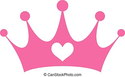 redevance, girly, rose, couronne princesse