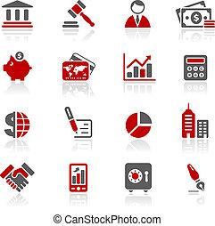 redico, finance, business, &, icônes, /