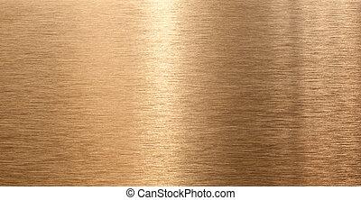 reflet, lumière, texture, élevé, qualité, bronze