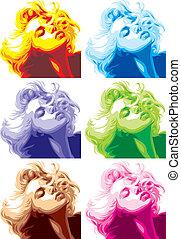 regard, marilyn, girl, blond, monroe, aimer