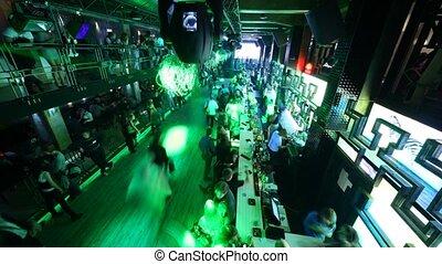 regard, ouverture, club, moscou, nuit, russia., salles