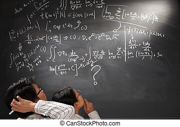 regarder, équation, complexe, difficile