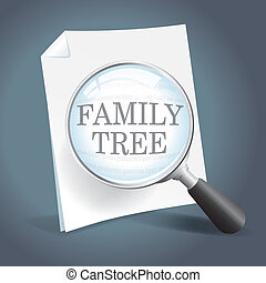 regarder, arbre, famille