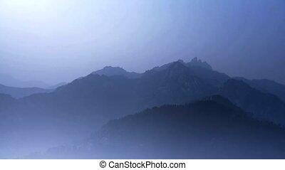 regarder, couches, montagnes., autour de