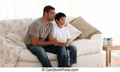 regarder, fils, père, film