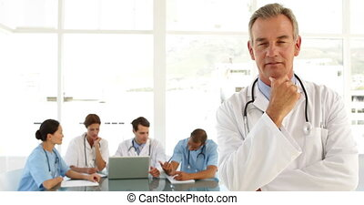 regarder, mûrir, personnel, docteur