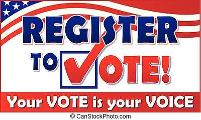 registre, vote
