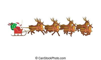 reindeers, santa, boucle