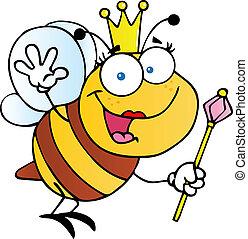 reine, amical, abeille