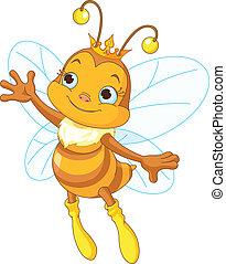 reine, projection, abeille