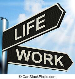 relations, vie, carrière, poteau indicateur, travail, signification, santé, équilibre