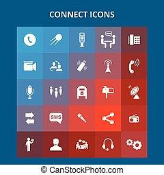relier, icônes