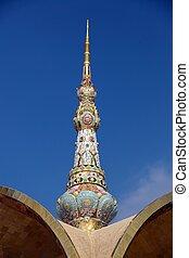 religieux, flèche, mosaïque