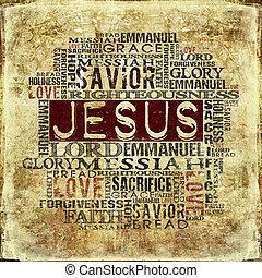 religieux, fond, jésus
