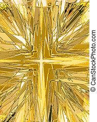 religieux, taché, illustration, verre, croix