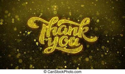 remercier, carte, invitation, voeux, salutations, vous, feud'artifice, célébration