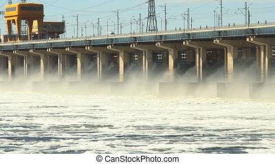 remise, centrale électrique, eau, hydroélectrique