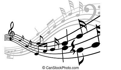 remplir, musical, fond