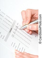 remplissage, formulaire
