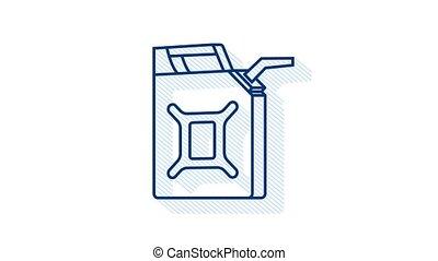 remplissage, fueling, réseau, rouges, ou, petroleum., essence, banner., canister., stations, diesel, toile