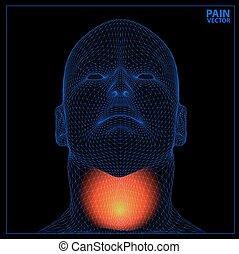 render, monde médical, painful., illustration, enflammé, projection, 3d