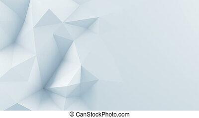 render, polygonal, forme, animation, blanc, boucle, 3d