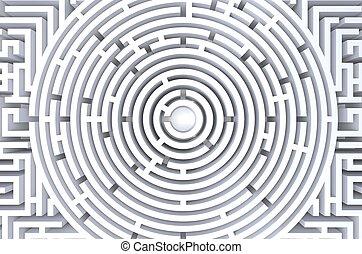 render, résumé, fond, blanc, 3d, circulaire