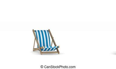 render, vacances, isolé, arrière-plan., blanc, 3d