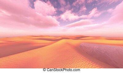 rendre, désert, 3d