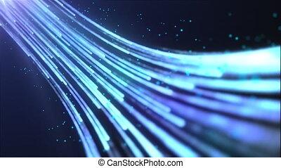 rendre numérique, stream., 3d, résumé, engendré, données, informatique, couler, fond, futuriste