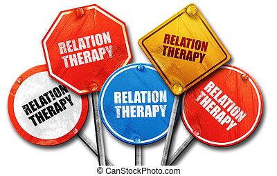 rendre, rue, relation, signes, thérapie, 3d