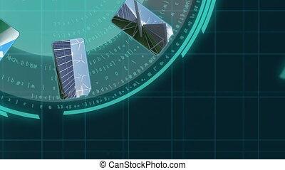 renouvelable, 3d animation, énergie