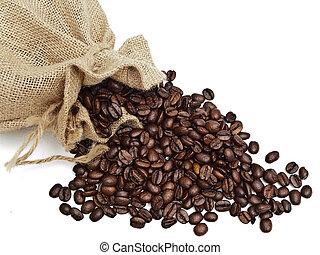 renversé, sac, coffe