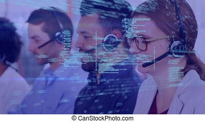 représentants, centre, appeler, programme, codes
