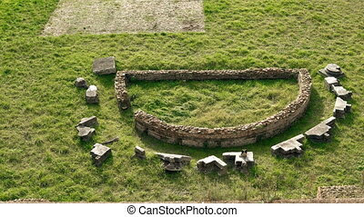 représente, ancien, italie, ville, rome, -, une, la plupart, palatin, parties, stade, severan, complex., colline