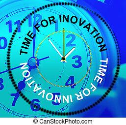 représente, concepts, créer, innovation, créativité, temps